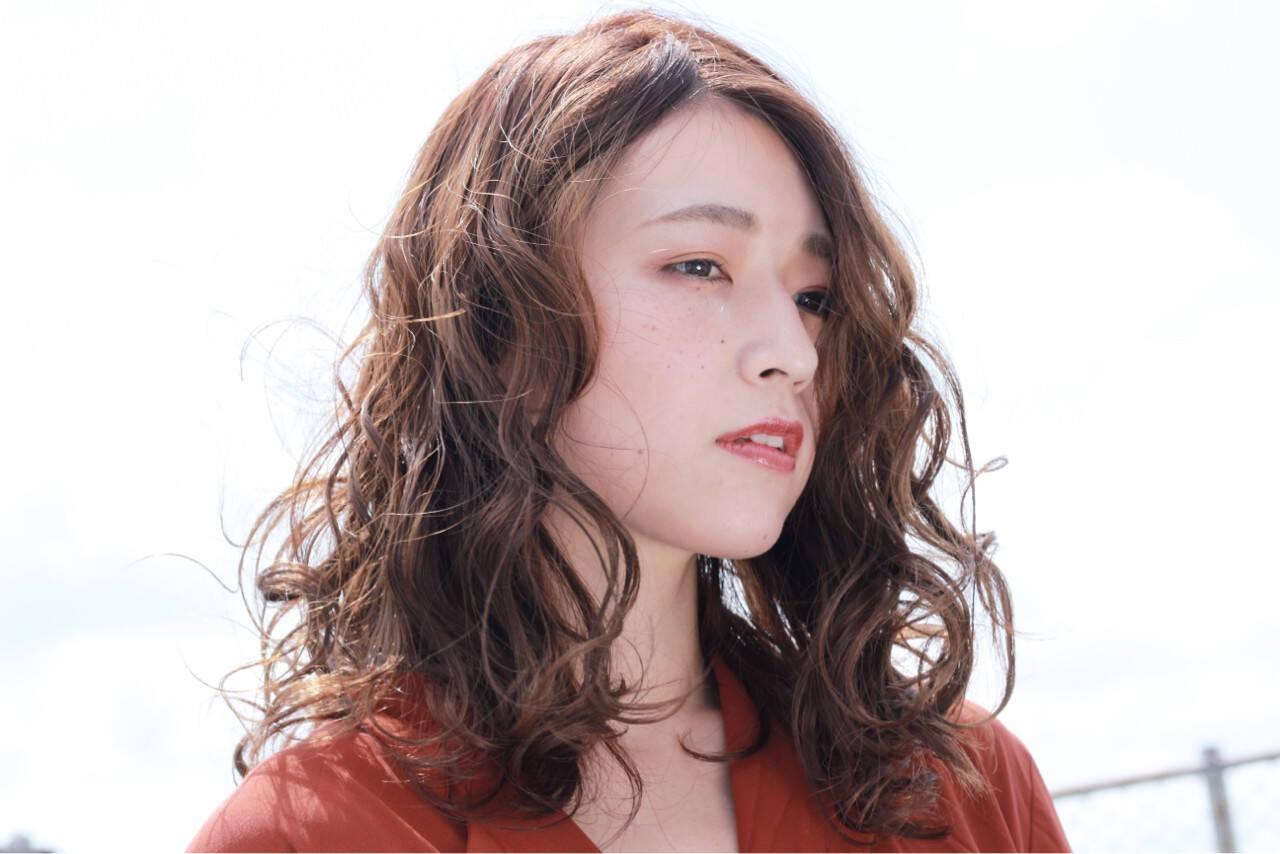 セミロング 前髪あり 簡単ヘアアレンジ ヘアアレンジヘアスタイルや髪型の写真・画像