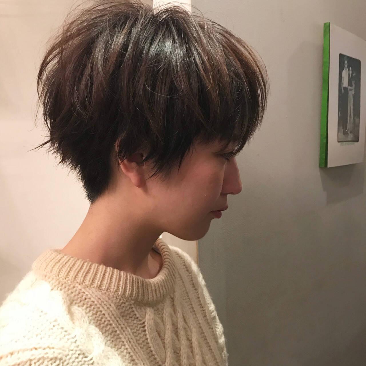 ショートボブ モード マッシュ ショートヘアスタイルや髪型の写真・画像