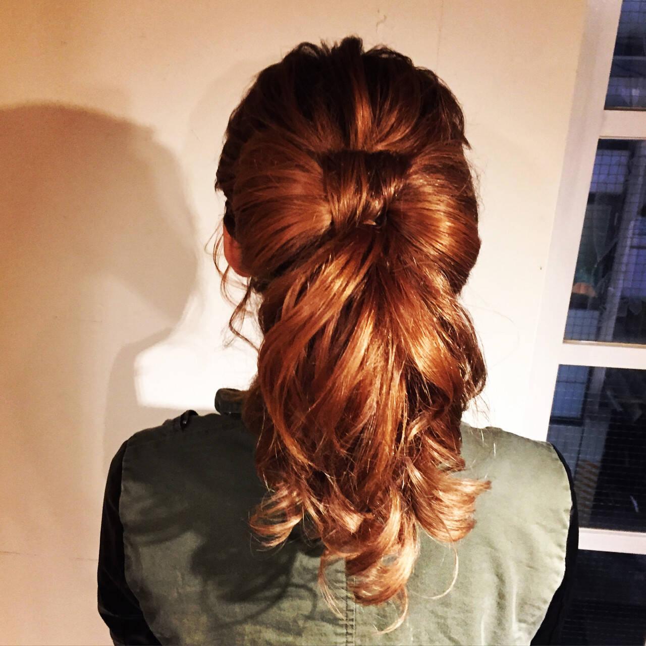 セミロング 大人かわいい ストリート ヘアアレンジヘアスタイルや髪型の写真・画像