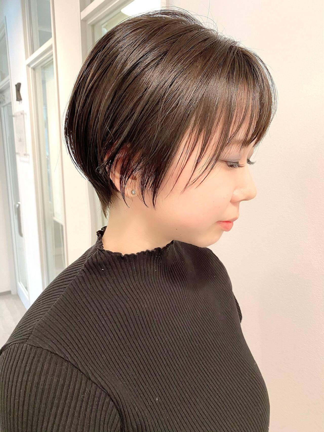 デート ベリーショート ナチュラル 大人かわいいヘアスタイルや髪型の写真・画像