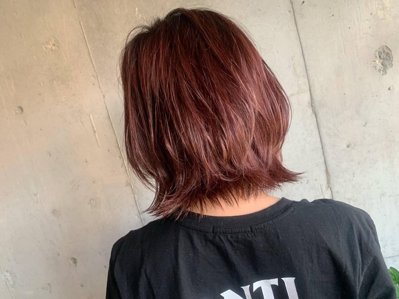 ストリート ピンク ベリーピンク コリアンピンクヘアスタイルや髪型の写真・画像