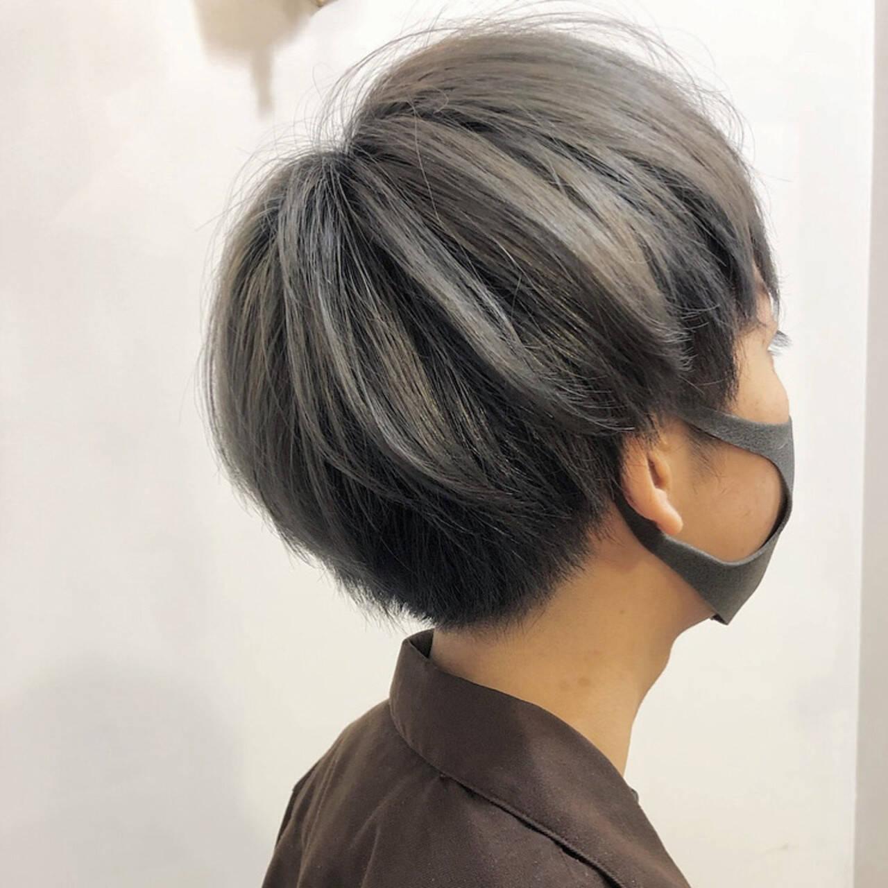ハイトーン ショート ストリート ハイトーンカラーヘアスタイルや髪型の写真・画像