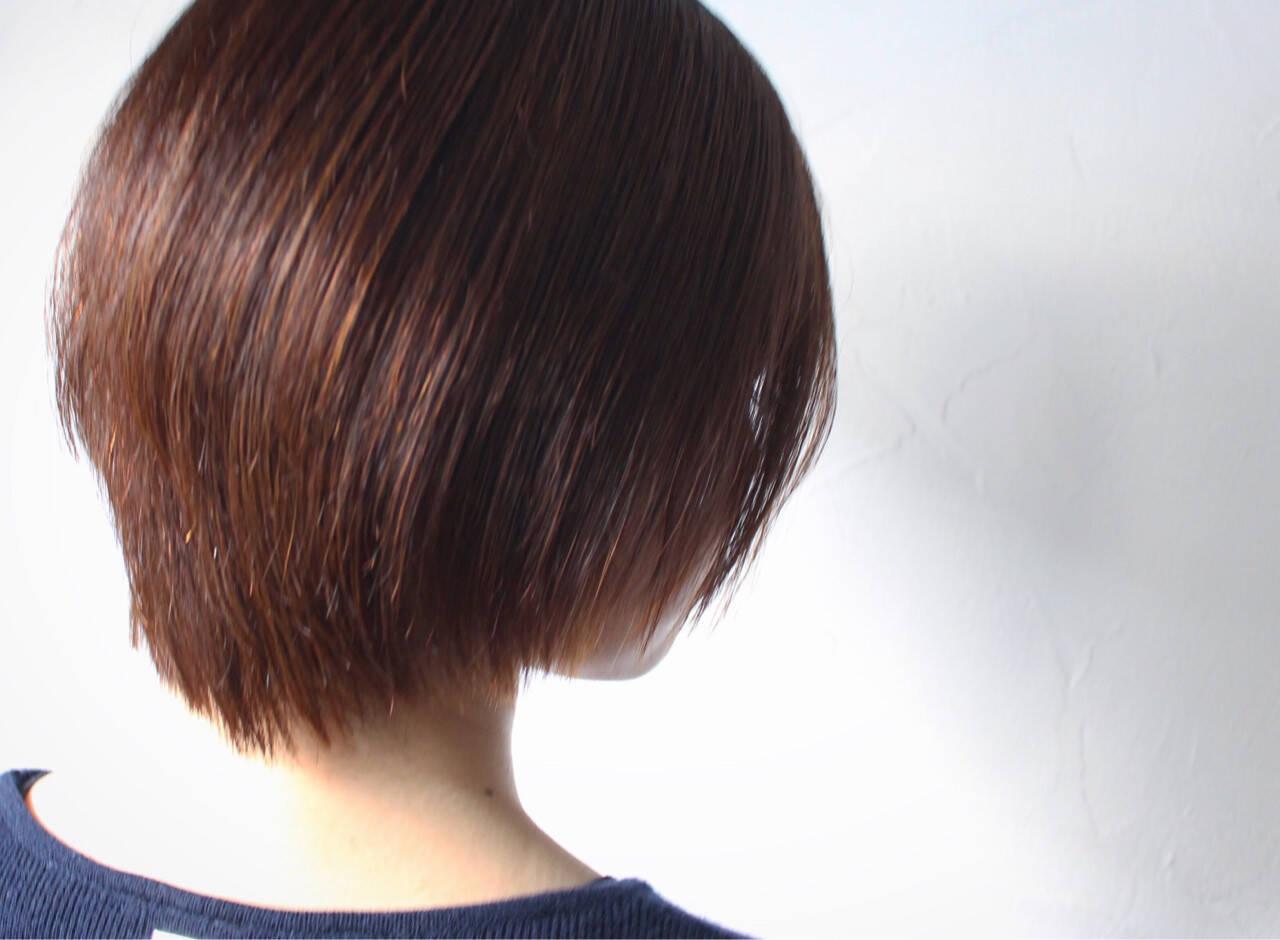 ボブ グラデーションカラー ショート 大人女子ヘアスタイルや髪型の写真・画像