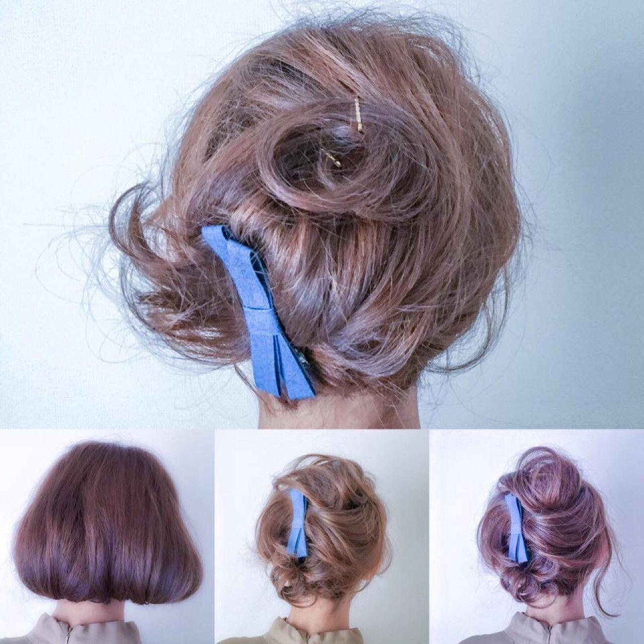 ショート 夏 大人女子 パーティヘアスタイルや髪型の写真・画像