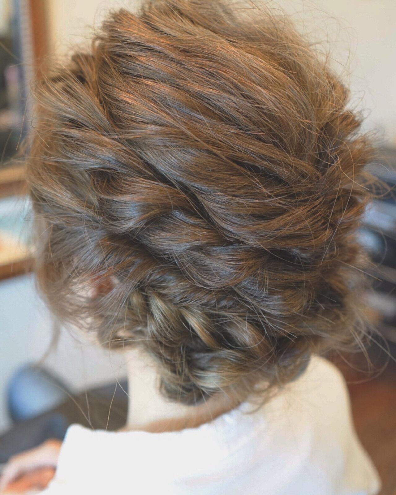 ゆるふわ ヘアアレンジ セミロング アッシュヘアスタイルや髪型の写真・画像