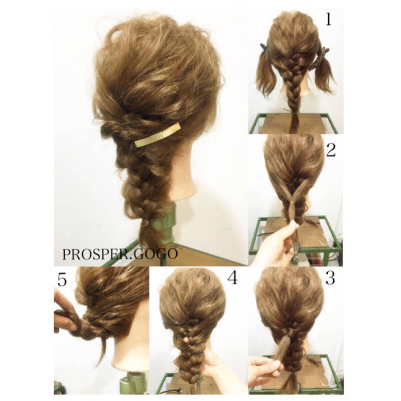 ミディアム 簡単ヘアアレンジ ゆるふわ 外国人風ヘアスタイルや髪型の写真・画像