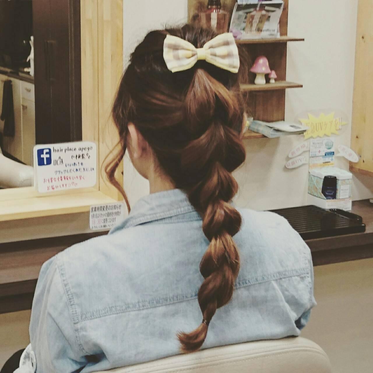 ショート ヘアアレンジ ポニーテール まとめ髪ヘアスタイルや髪型の写真・画像
