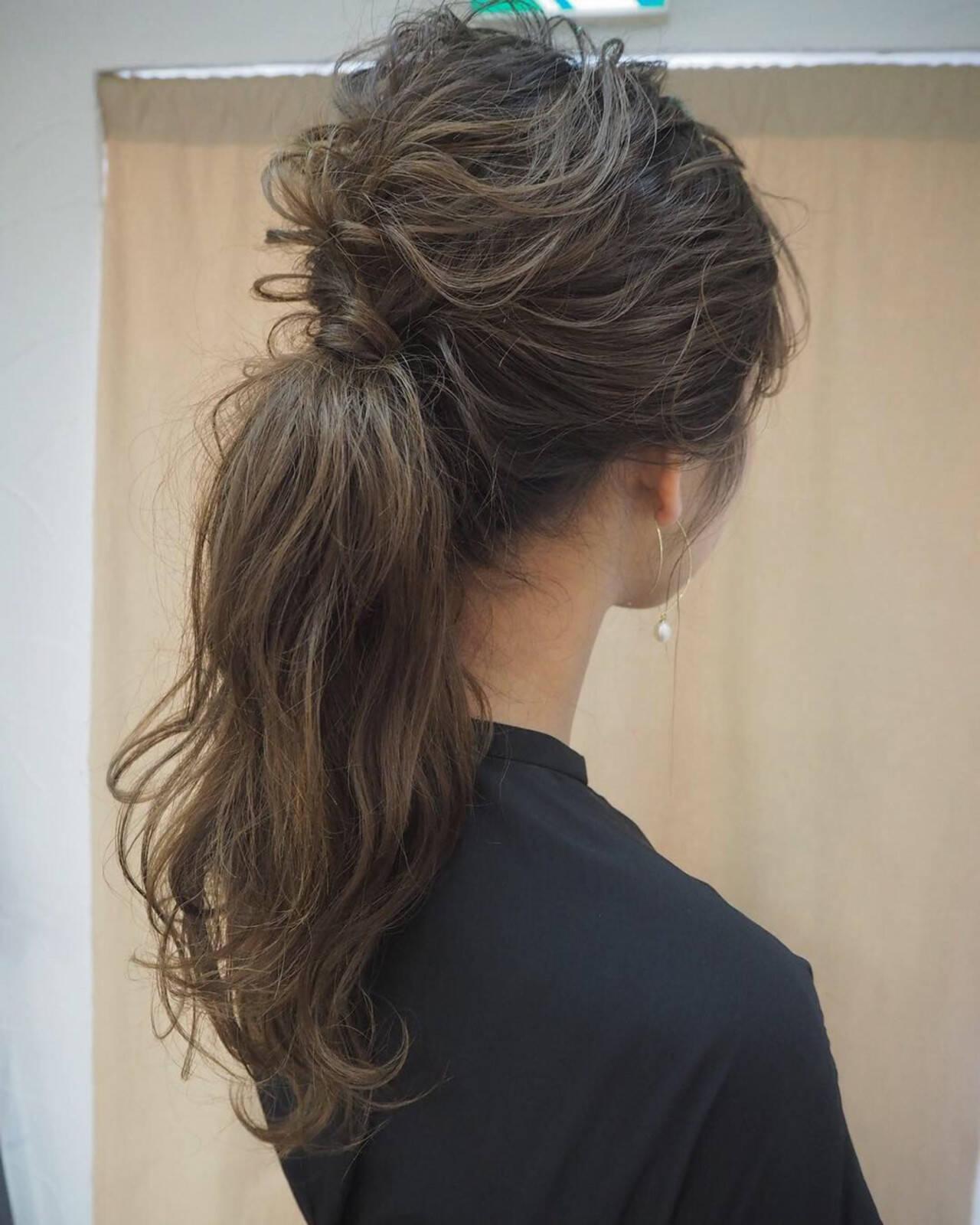 編み込み ナチュラル ヘアアレンジ 結婚式ヘアスタイルや髪型の写真・画像