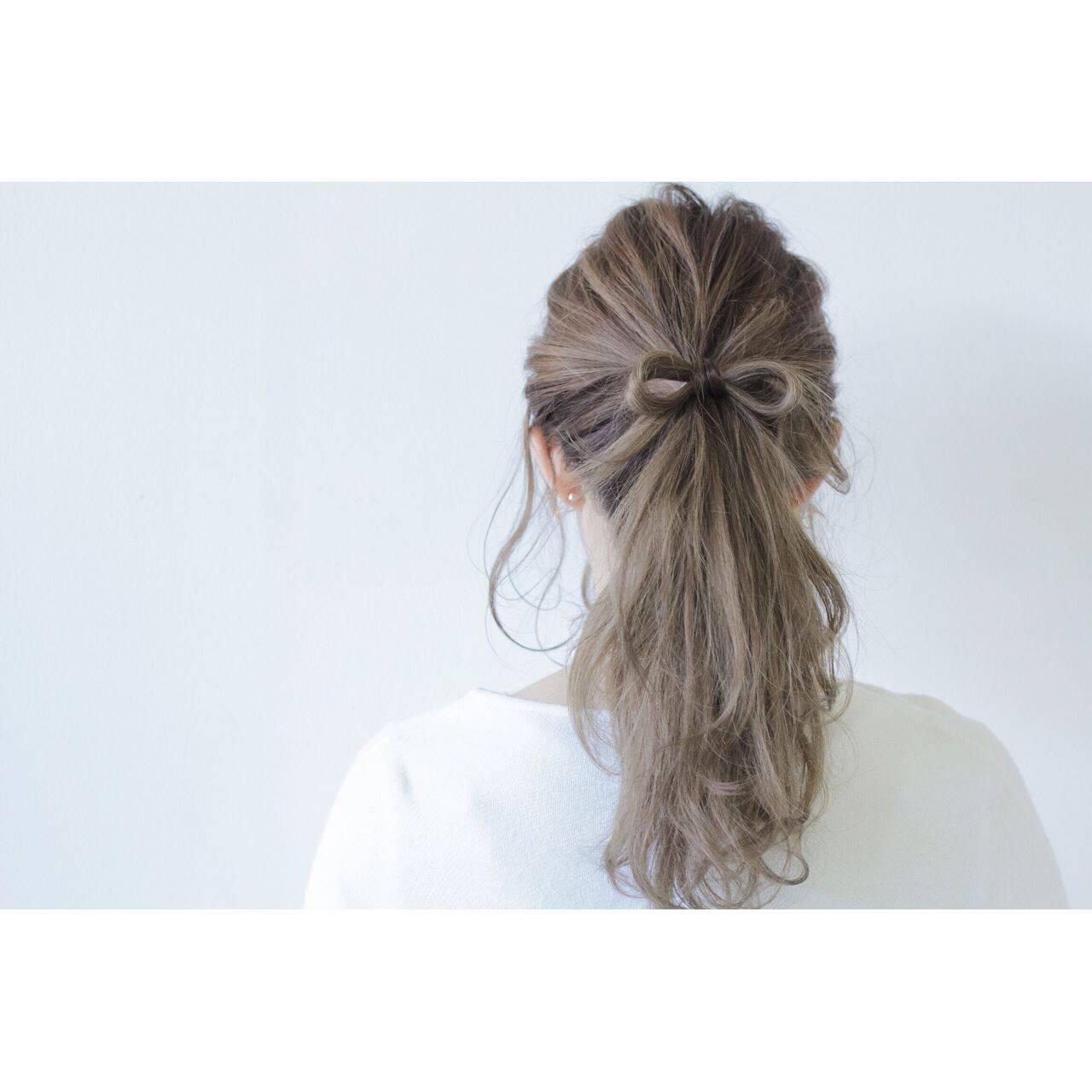 春 ストリート ガーリーヘアスタイルや髪型の写真・画像