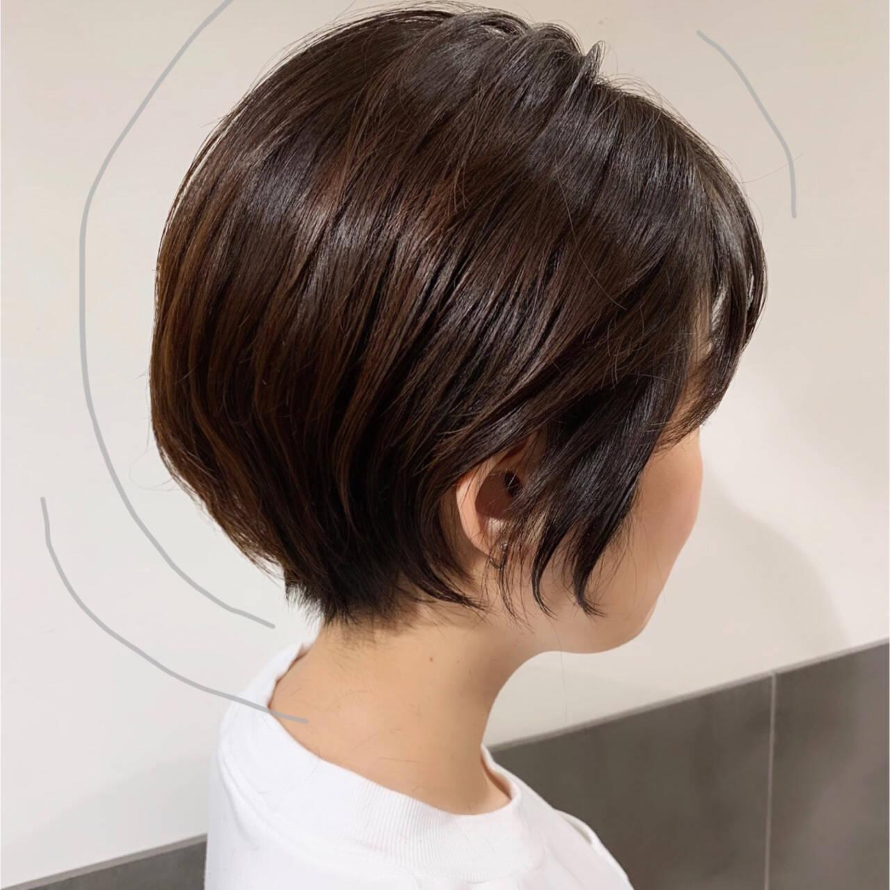 ハンサムショート ナチュラル ショート 大人ショートヘアスタイルや髪型の写真・画像