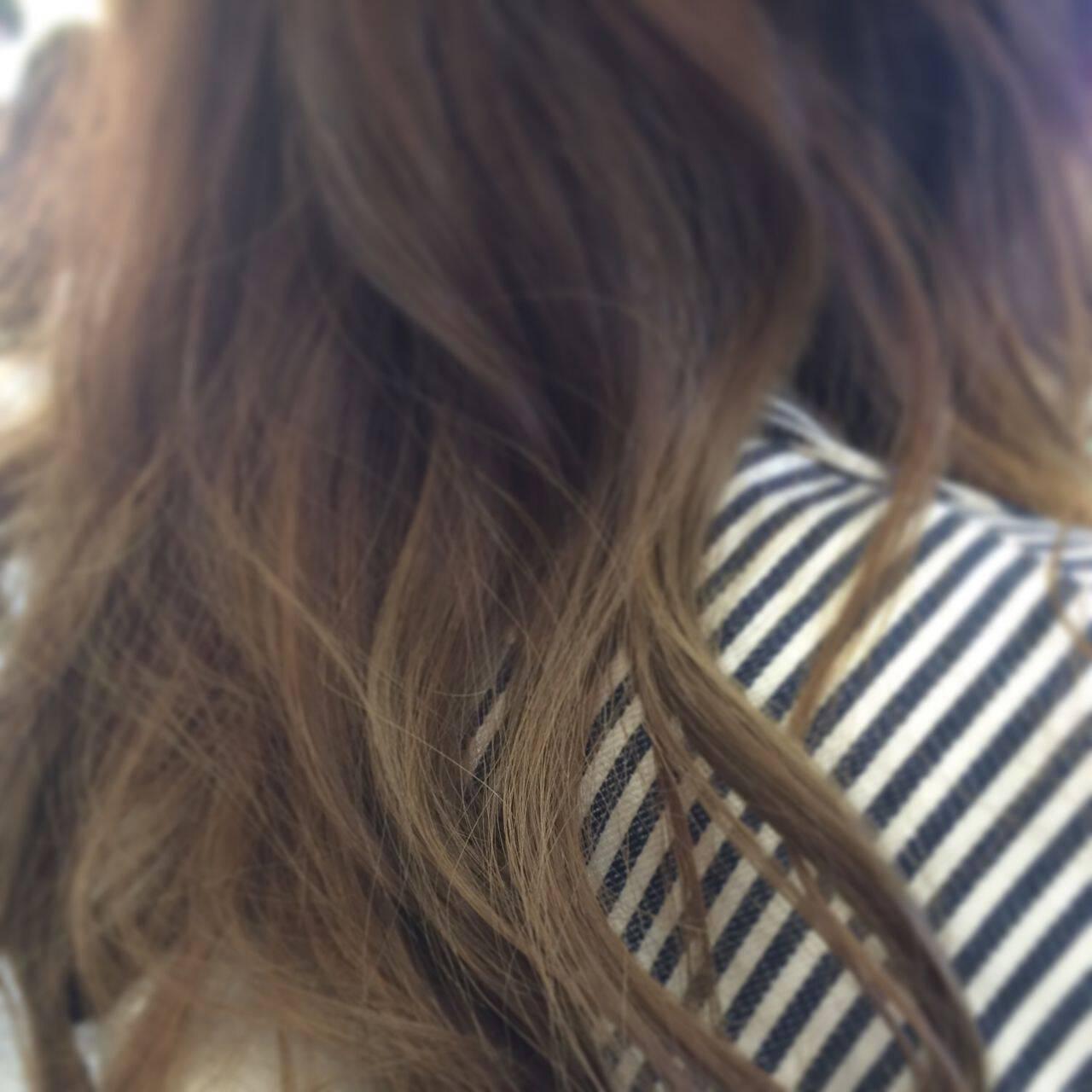 グラデーションカラー ダブルカラー 秋ヘアスタイルや髪型の写真・画像