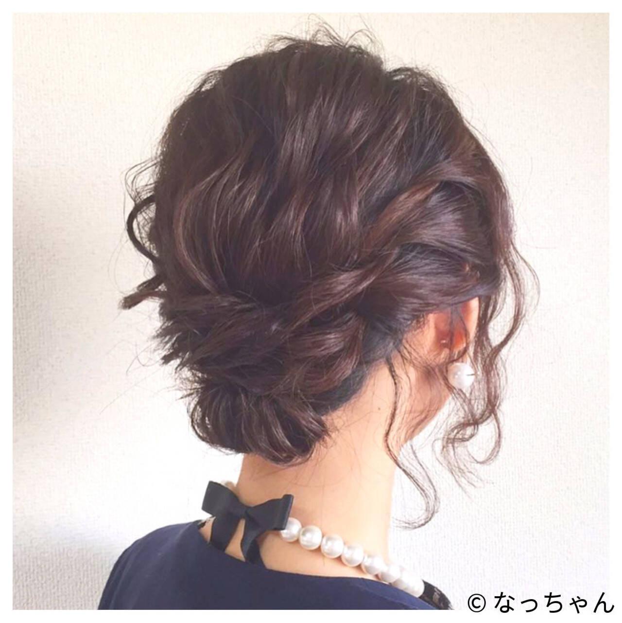 結婚式 パーティ ヘアアレンジ お呼ばれヘアスタイルや髪型の写真・画像
