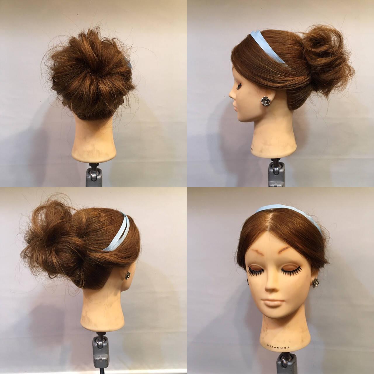 セミロング 結婚式 ヘアアレンジ ディズニーヘアスタイルや髪型の写真・画像