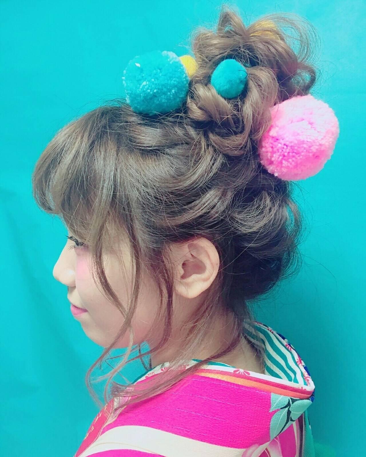 セミロング 結婚式 ヘアアレンジ アップスタイルヘアスタイルや髪型の写真・画像