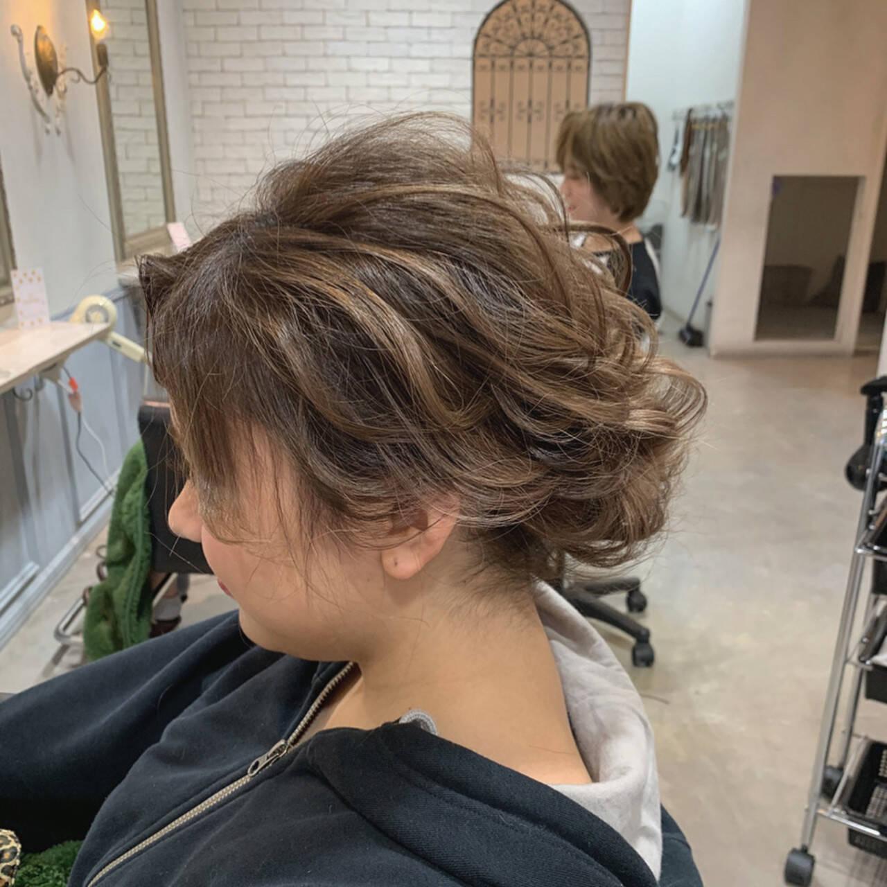 シニヨン ハイライト ヘアアレンジ 結婚式ヘアアレンジヘアスタイルや髪型の写真・画像