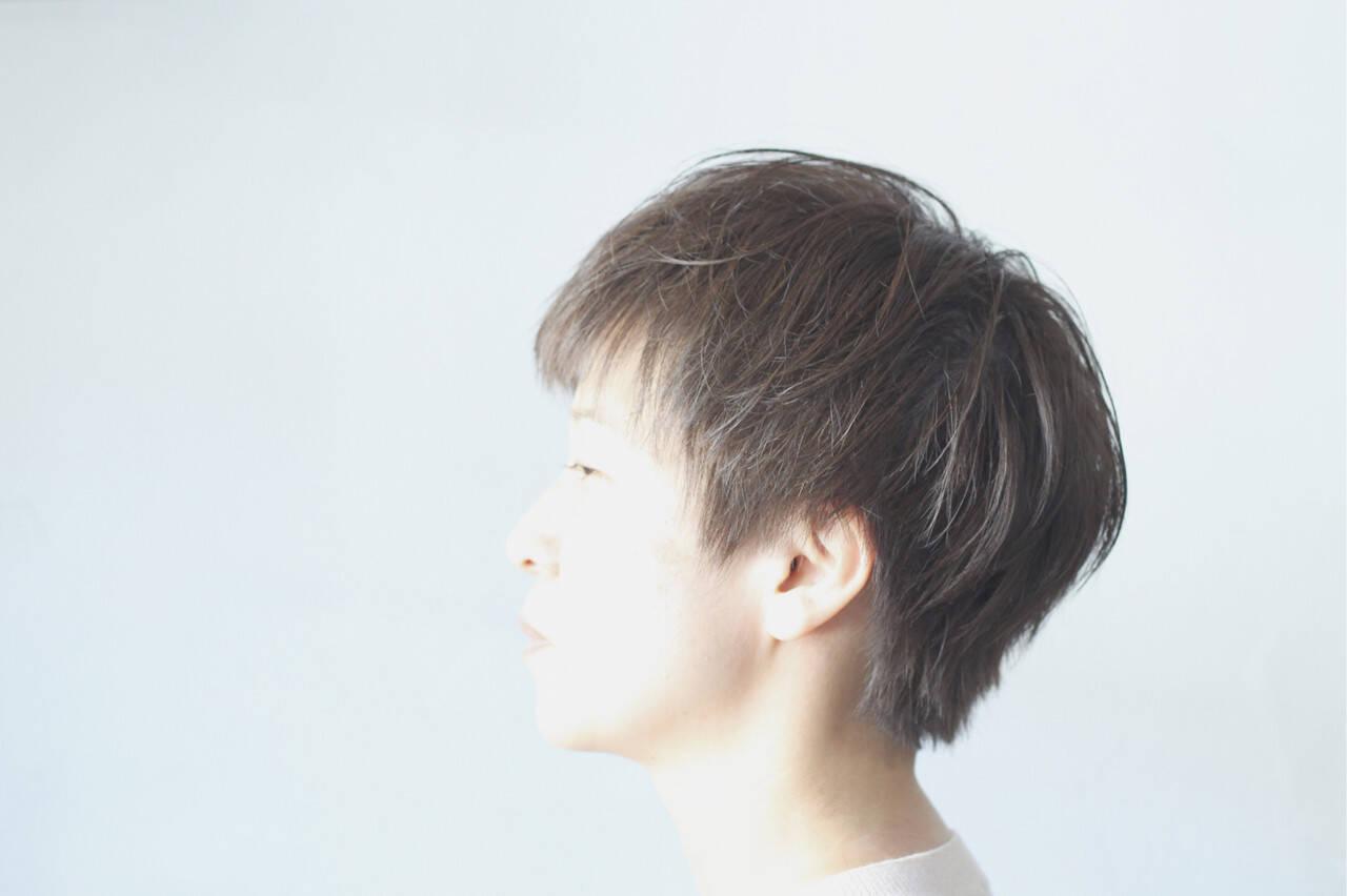 ナチュラル ベリーショート ショート ハンサムショートヘアスタイルや髪型の写真・画像