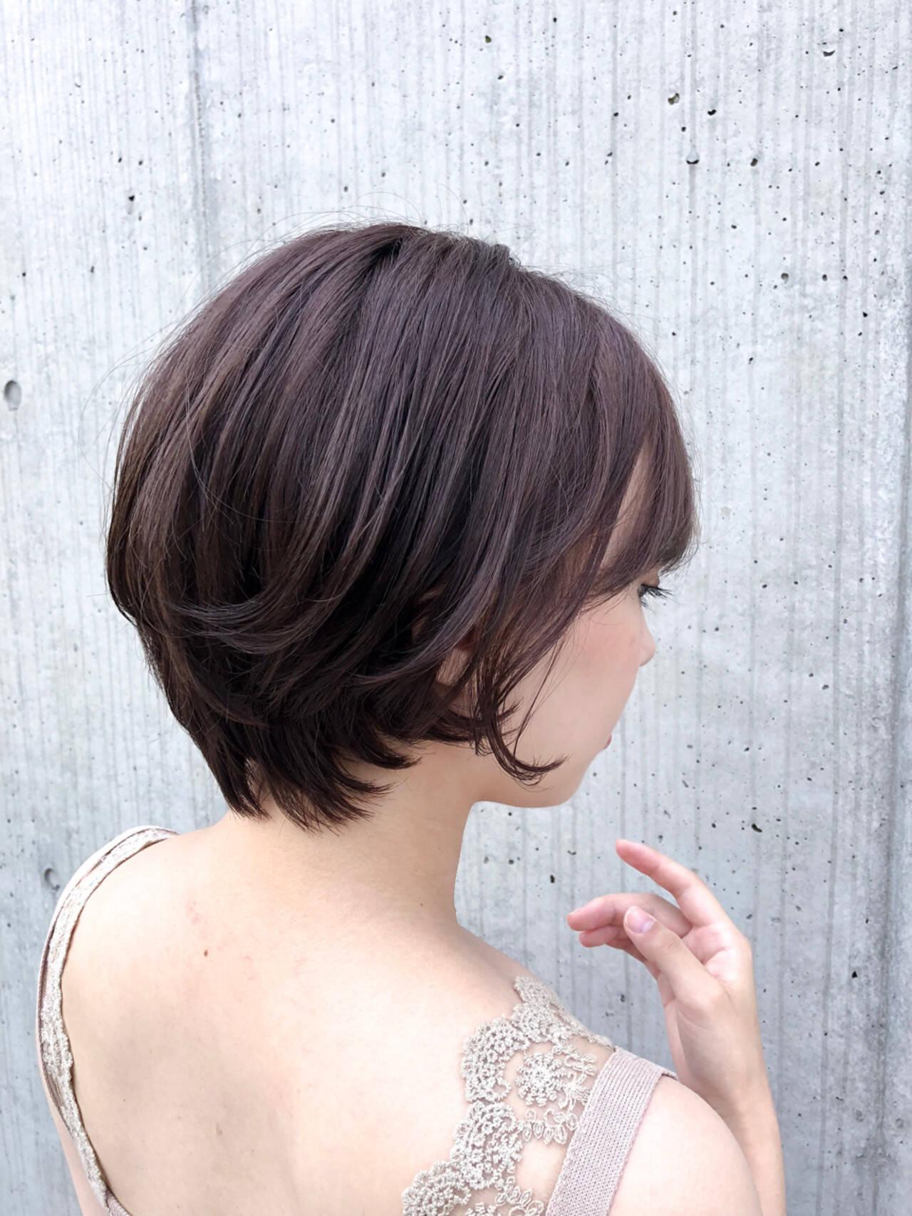 大人かわいい デート 涼しげ ショートヘアスタイルや髪型の写真・画像