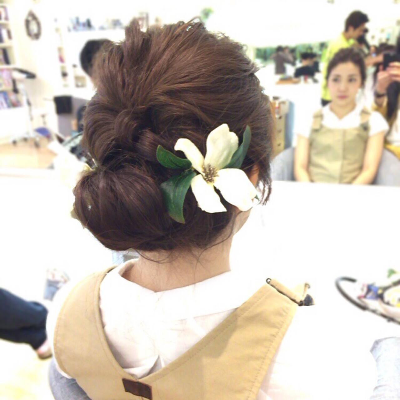 着物 ナチュラル アップスタイル パーティヘアスタイルや髪型の写真・画像