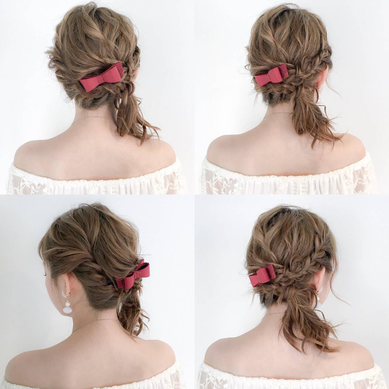 セミロング アウトドア 女子会 フェミニンヘアスタイルや髪型の写真・画像