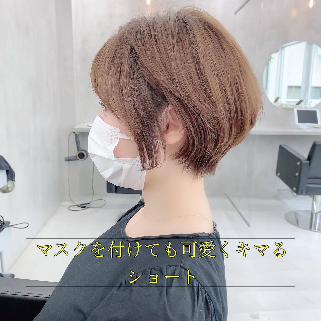 ショートヘア ショート 小顔ショート ショートボブヘアスタイルや髪型の写真・画像