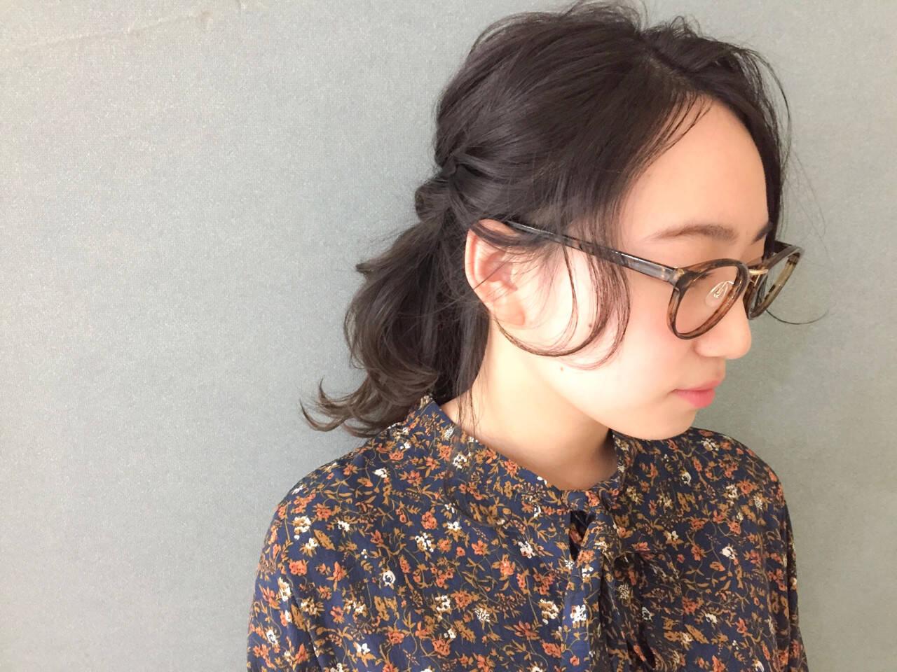編み込み エレガント 大人女子 ミディアムヘアスタイルや髪型の写真・画像
