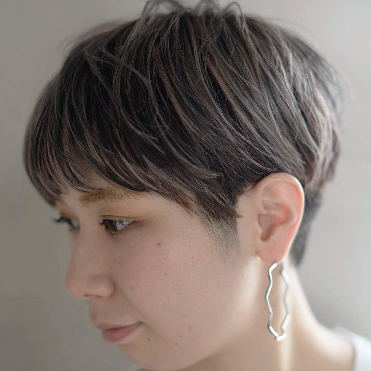 マッシュ ストリート ハイライト ベリーショートヘアスタイルや髪型の写真・画像