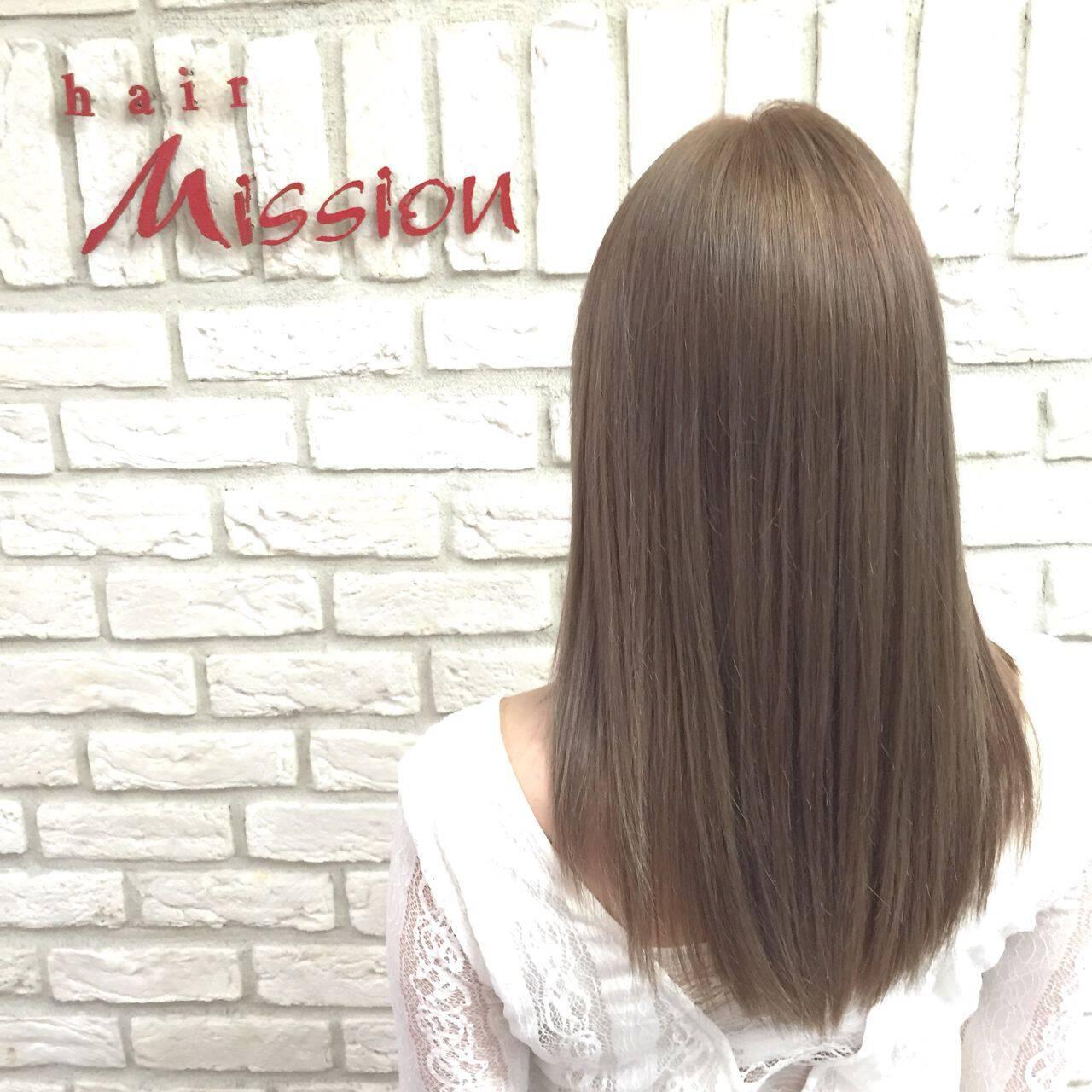 外国人風カラー ガーリー アッシュ 渋谷系ヘアスタイルや髪型の写真・画像