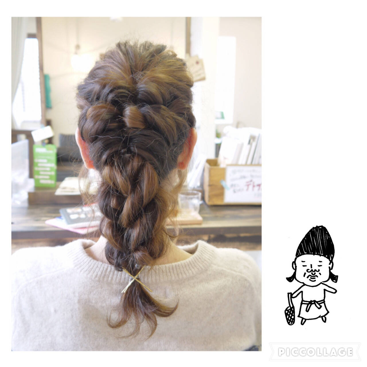 編み込み ショート ねじり ヘアアレンジヘアスタイルや髪型の写真・画像