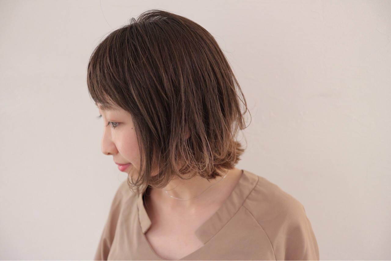リラックス ボブ グラデーションカラー 秋ヘアスタイルや髪型の写真・画像