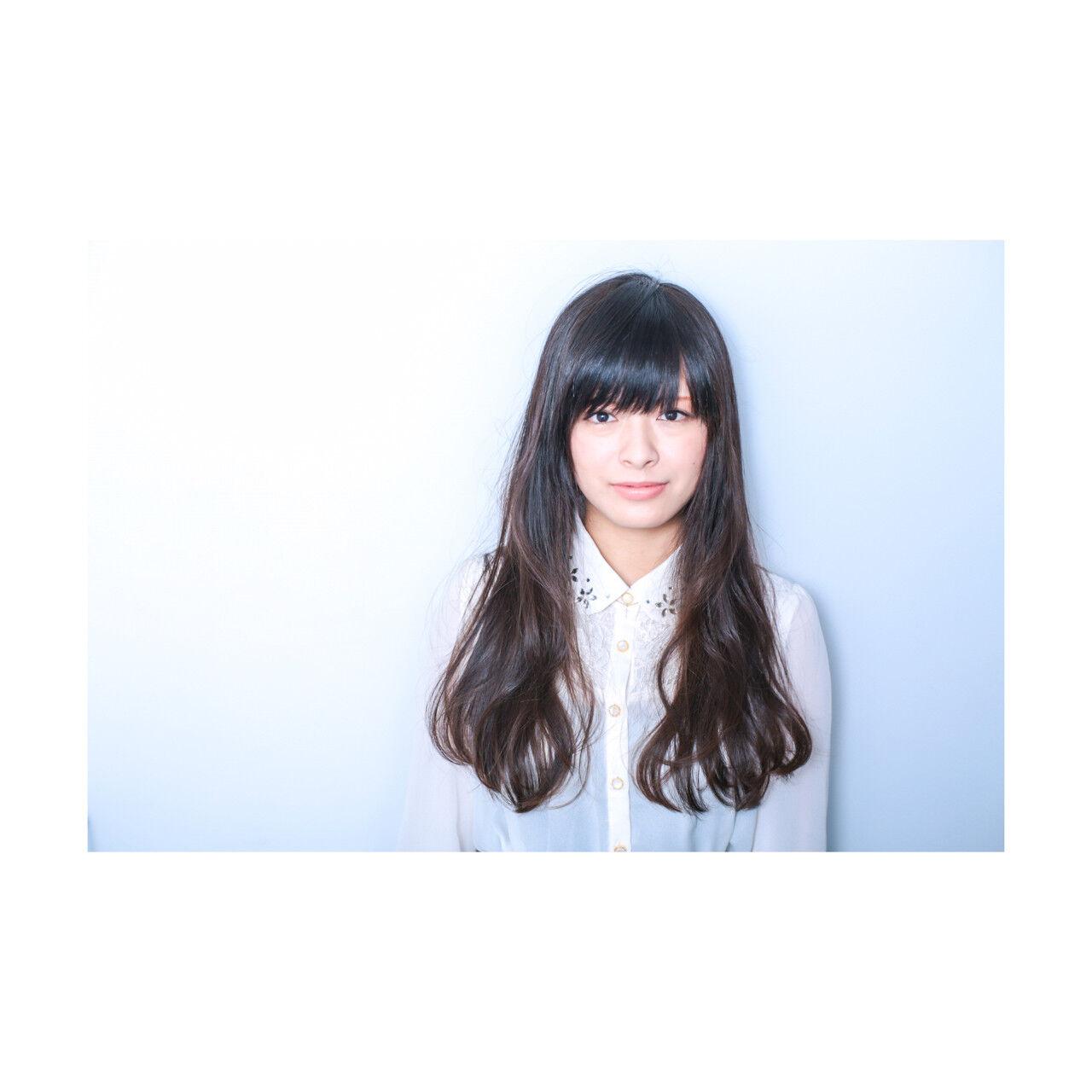 コンサバ 暗髪 黒髪 ロングヘアスタイルや髪型の写真・画像