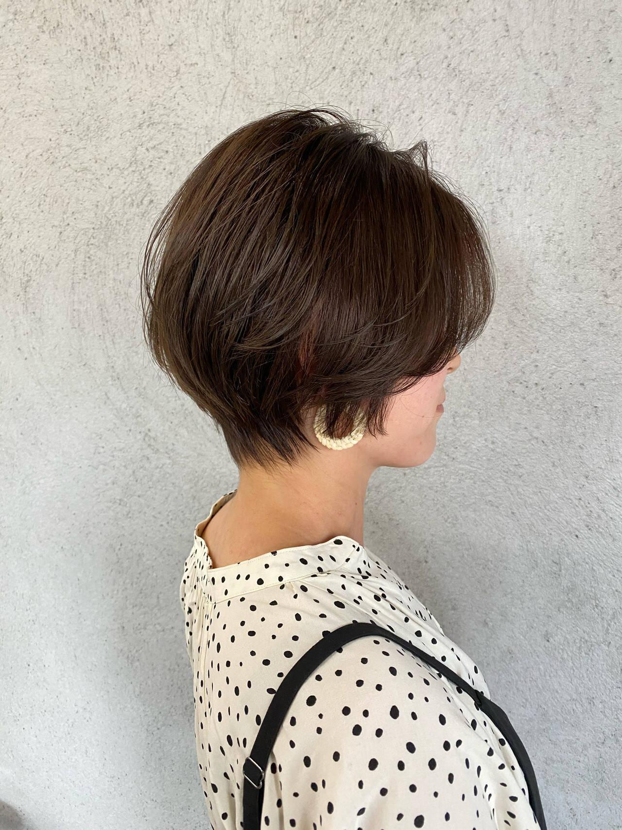 ショートヘア ショート ミニボブ フェミニンヘアスタイルや髪型の写真・画像