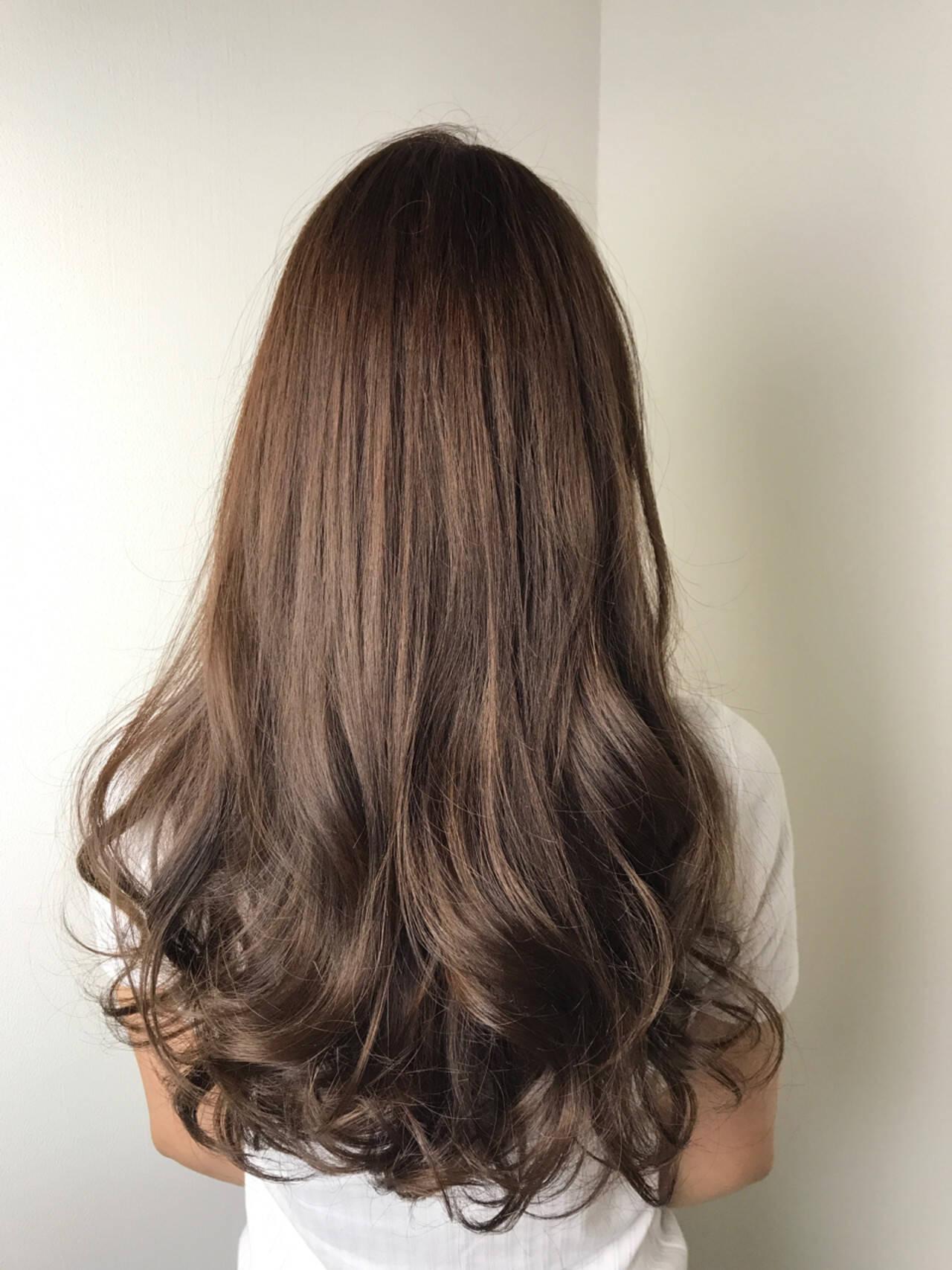ピンク エレガント ベージュ ロングヘアスタイルや髪型の写真・画像