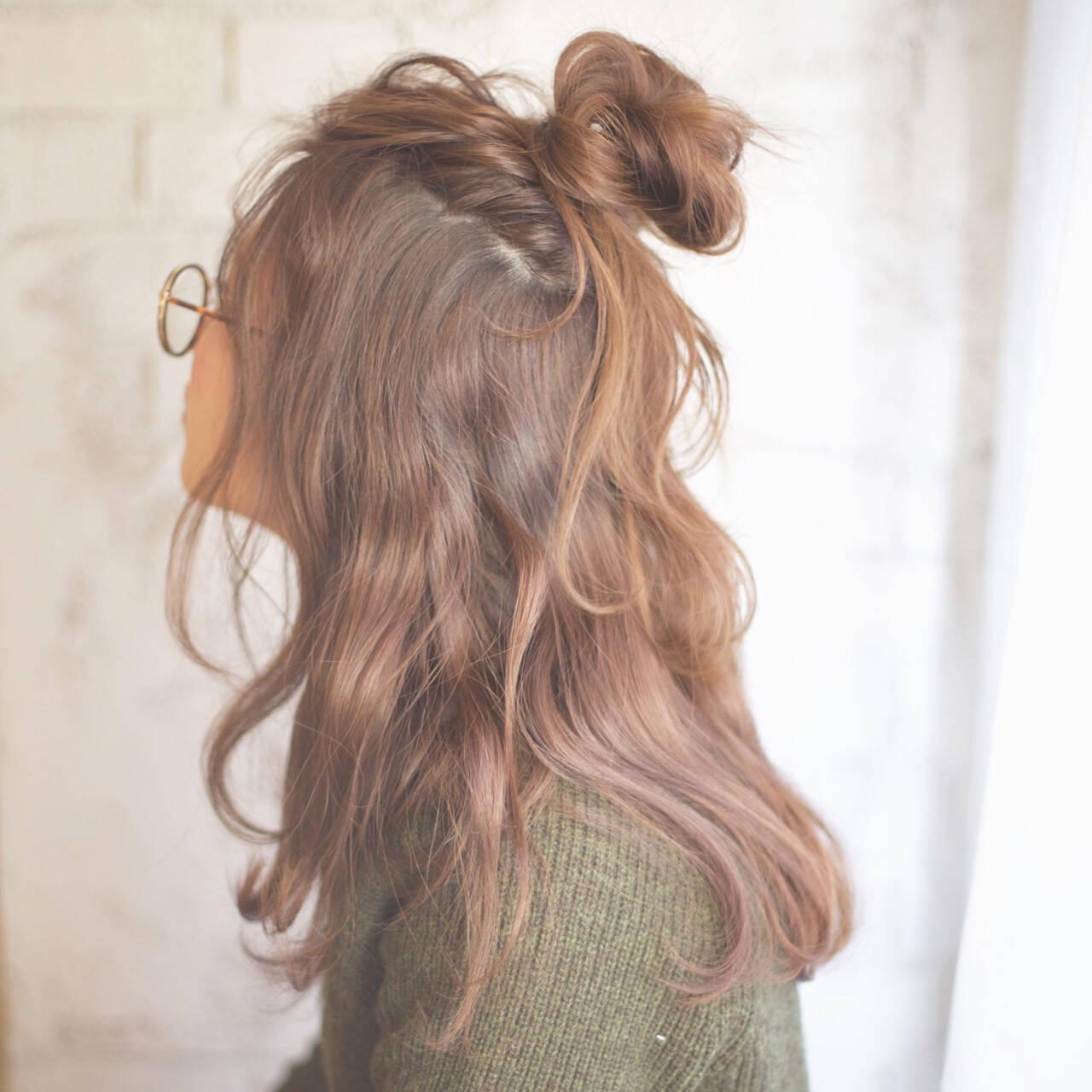 簡単 簡単ヘアアレンジ セミロング ショートヘアスタイルや髪型の写真・画像