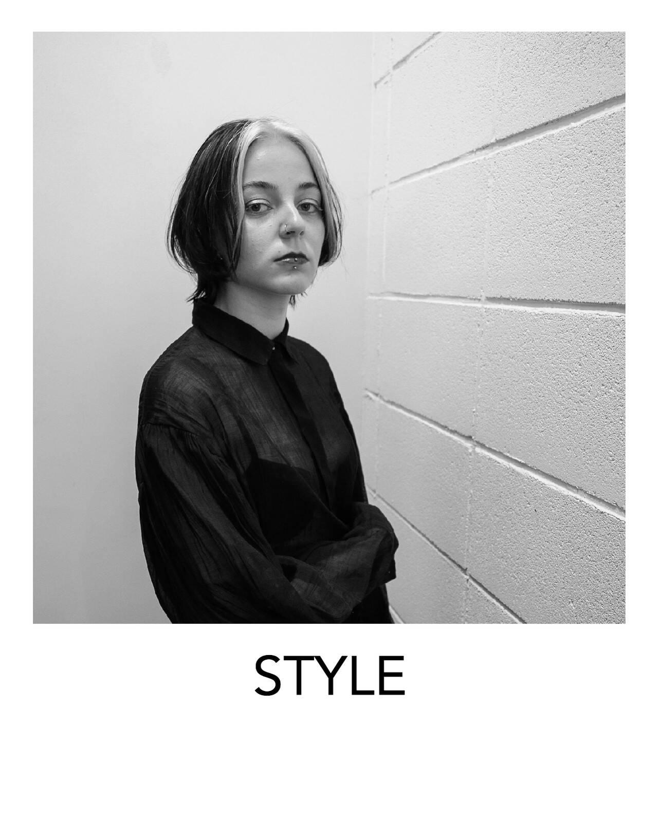原宿 ストリート デザインカラー ホワイトブリーチヘアスタイルや髪型の写真・画像