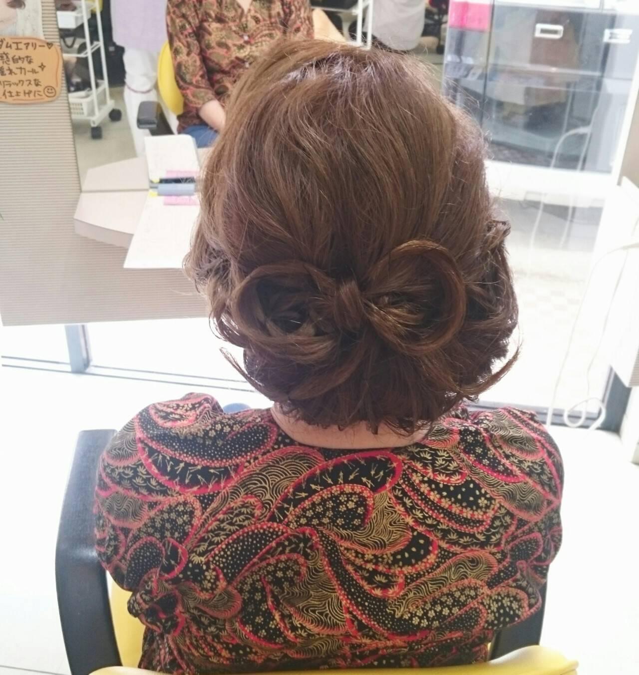 着物 ゆるふわ 和装 ヘアアレンジヘアスタイルや髪型の写真・画像