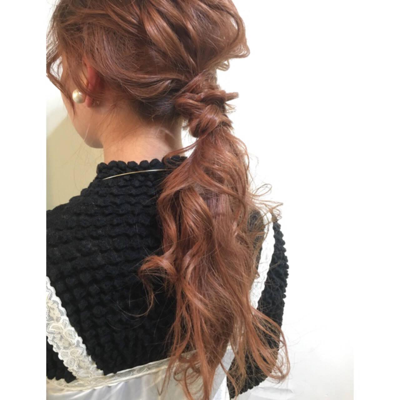 ポニーテール 簡単ヘアアレンジ 外国人風 ショートヘアスタイルや髪型の写真・画像