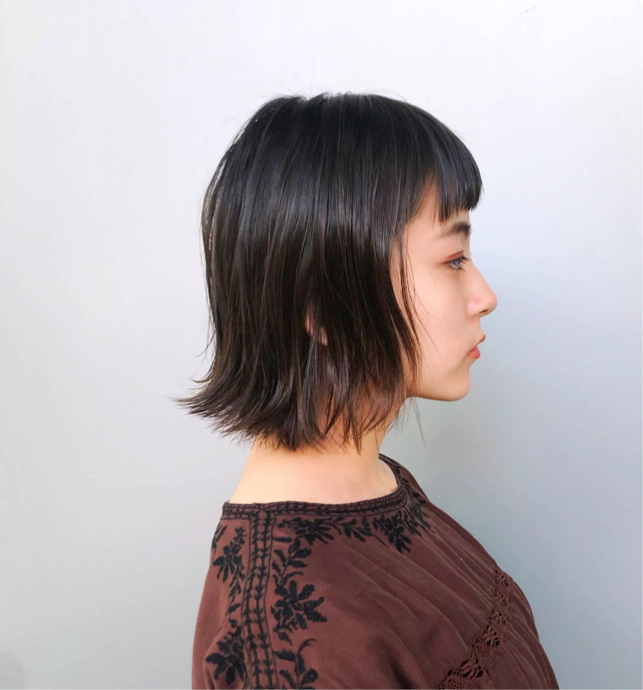 ボブ 大人女子 小顔 オフィスヘアスタイルや髪型の写真・画像