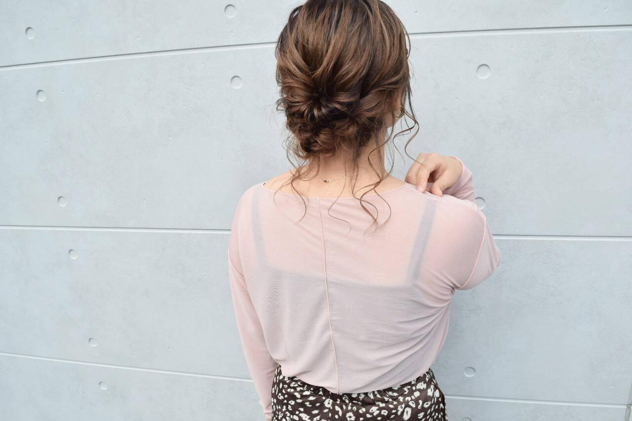 グレージュ ヘアアレンジ ベージュ ボブヘアスタイルや髪型の写真・画像