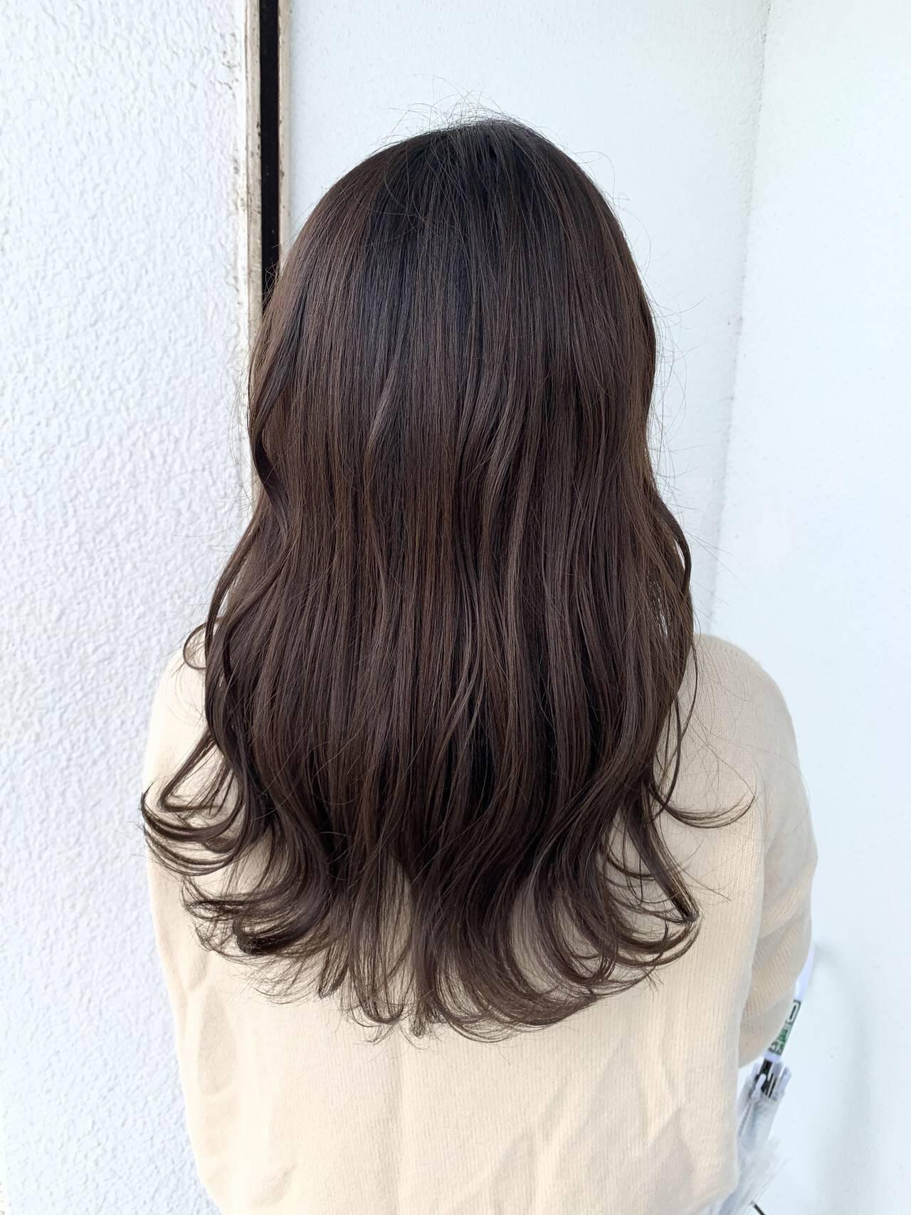 モテ髪 ブリーチなし イルミナカラー 愛されヘアスタイルや髪型の写真・画像