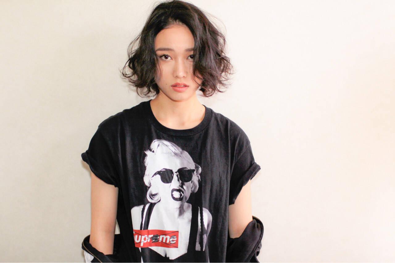 簡単 ストリート 暗髪 黒髪ヘアスタイルや髪型の写真・画像