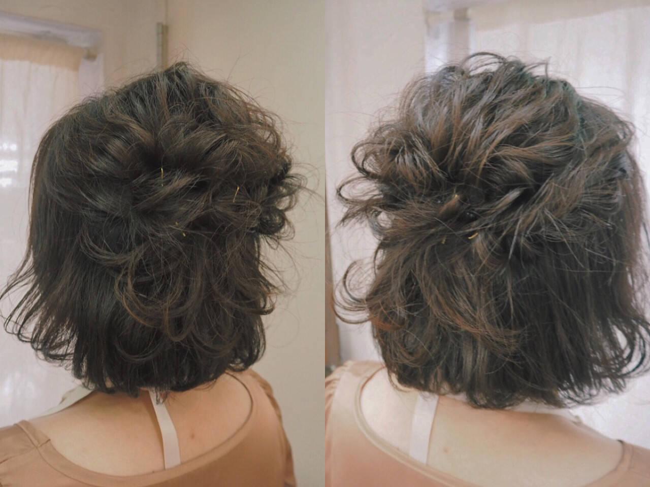 簡単ヘアアレンジ 大人かわいい 編み込み ヘアアレンジヘアスタイルや髪型の写真・画像