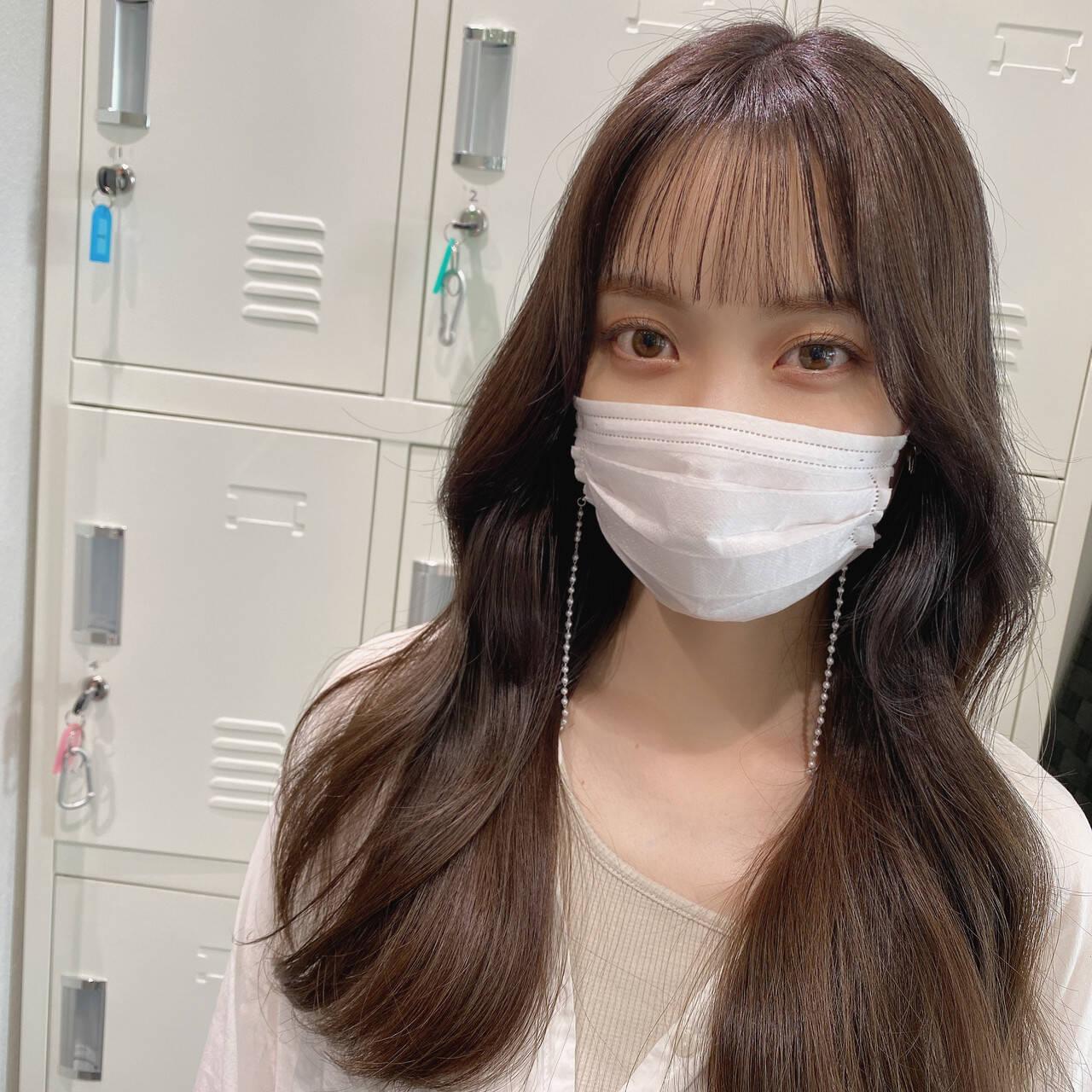 オルチャン チョコレート 韓国ヘア ミルクティーベージュヘアスタイルや髪型の写真・画像