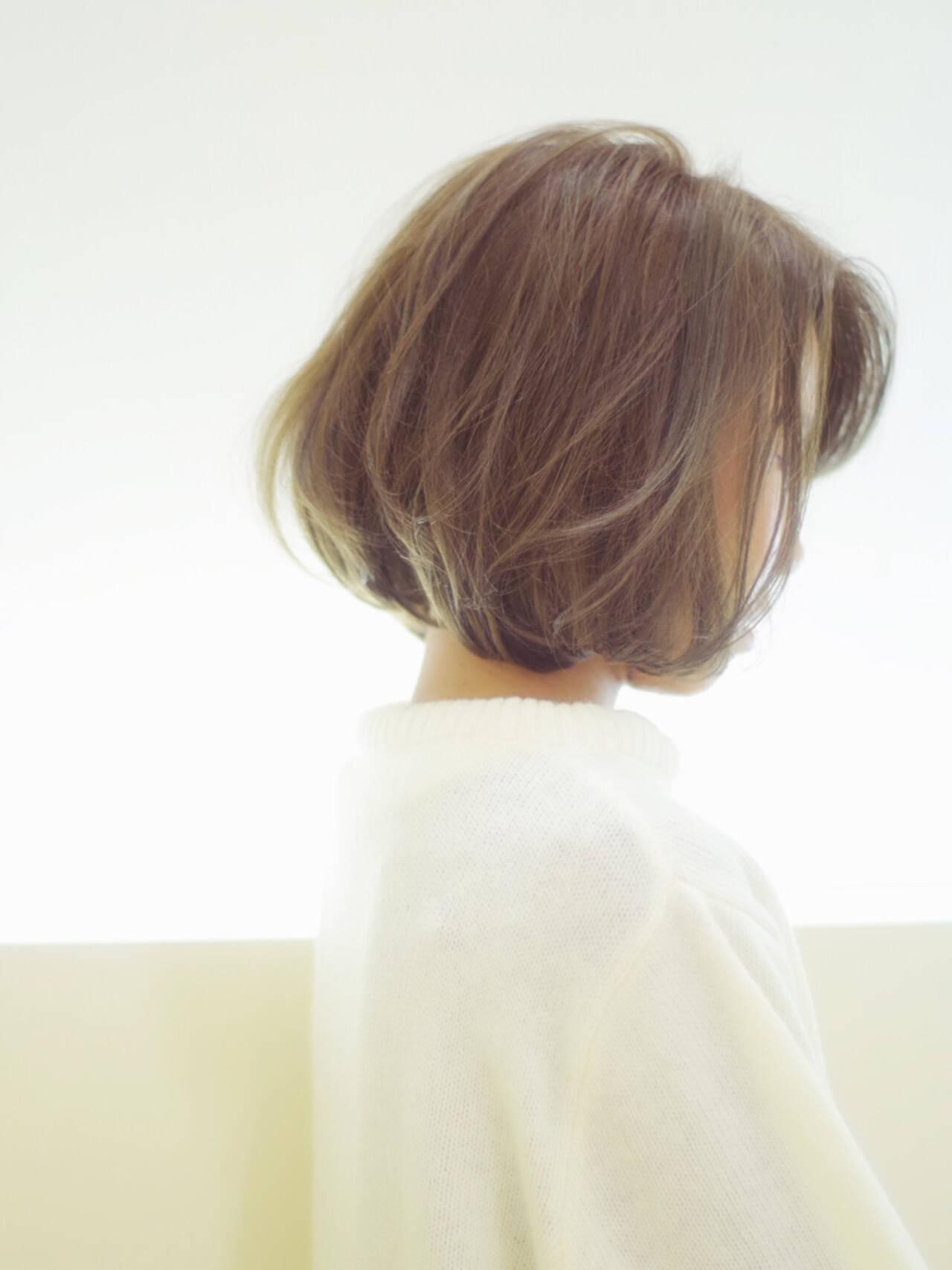 ショート ボブ ストレート 外国人風ヘアスタイルや髪型の写真・画像