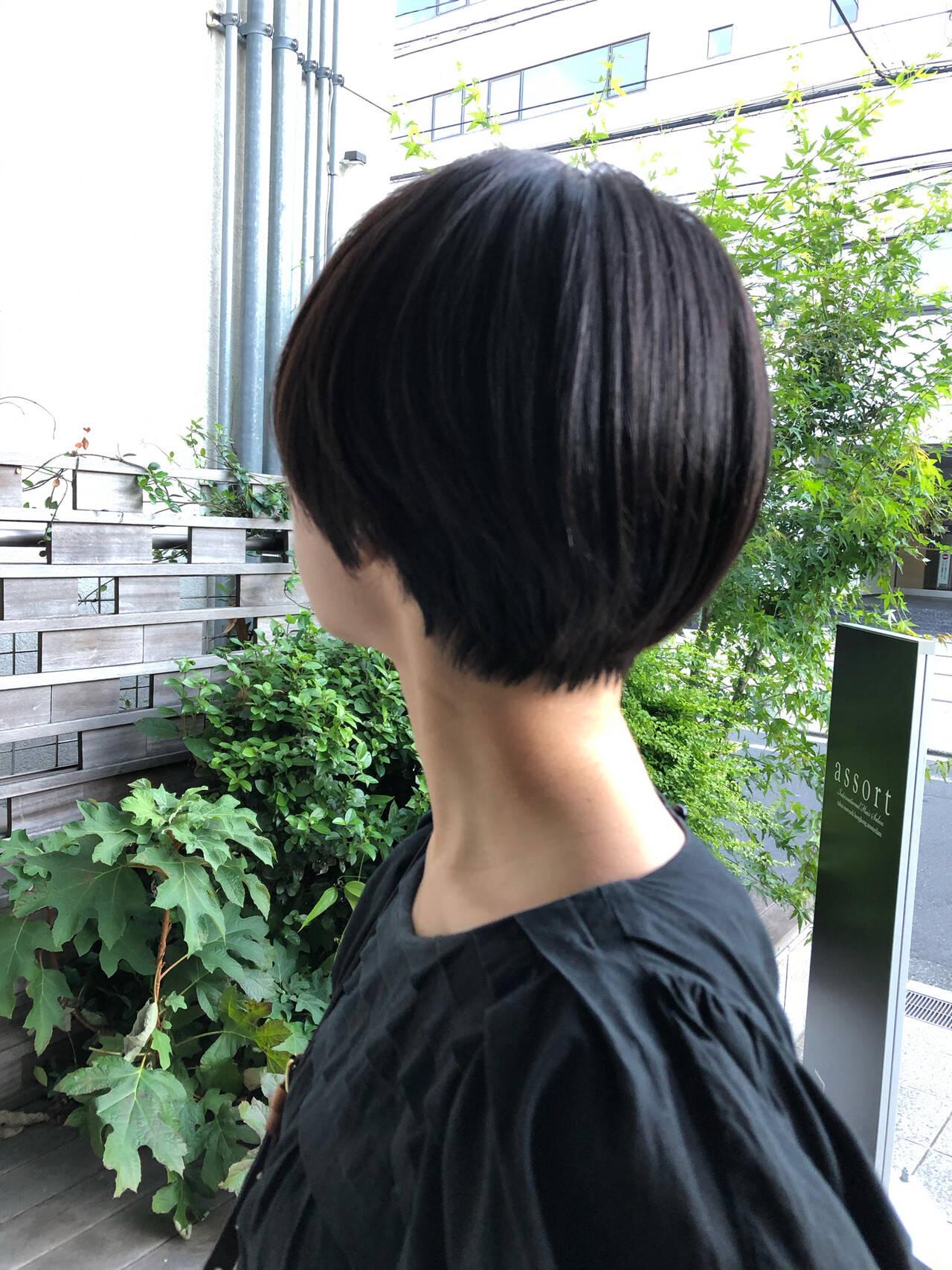 ナチュラル ショート 大人ショート 大人かわいいヘアスタイルや髪型の写真・画像