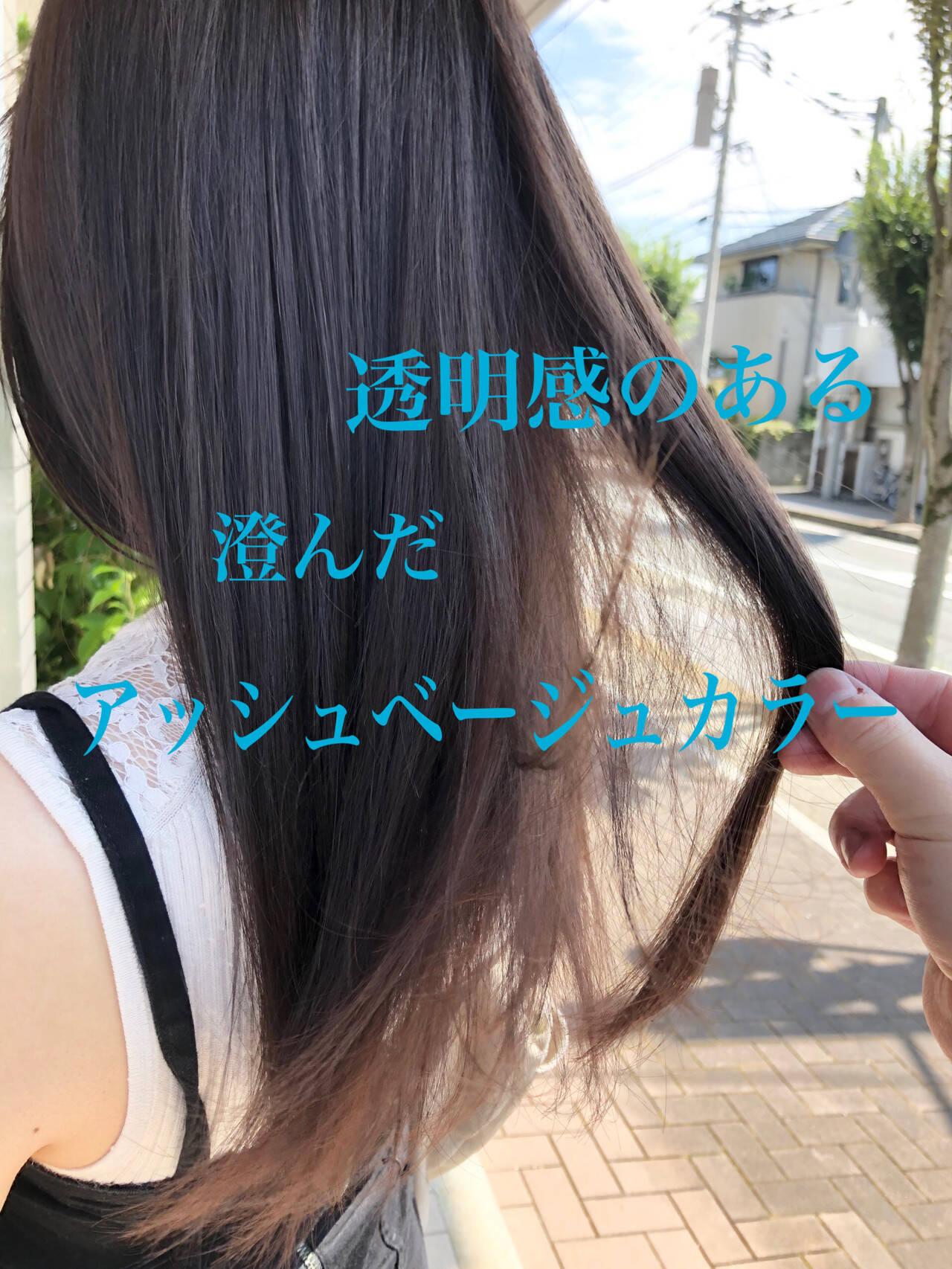 アッシュ エレガント アッシュグレージュ アッシュグレーヘアスタイルや髪型の写真・画像