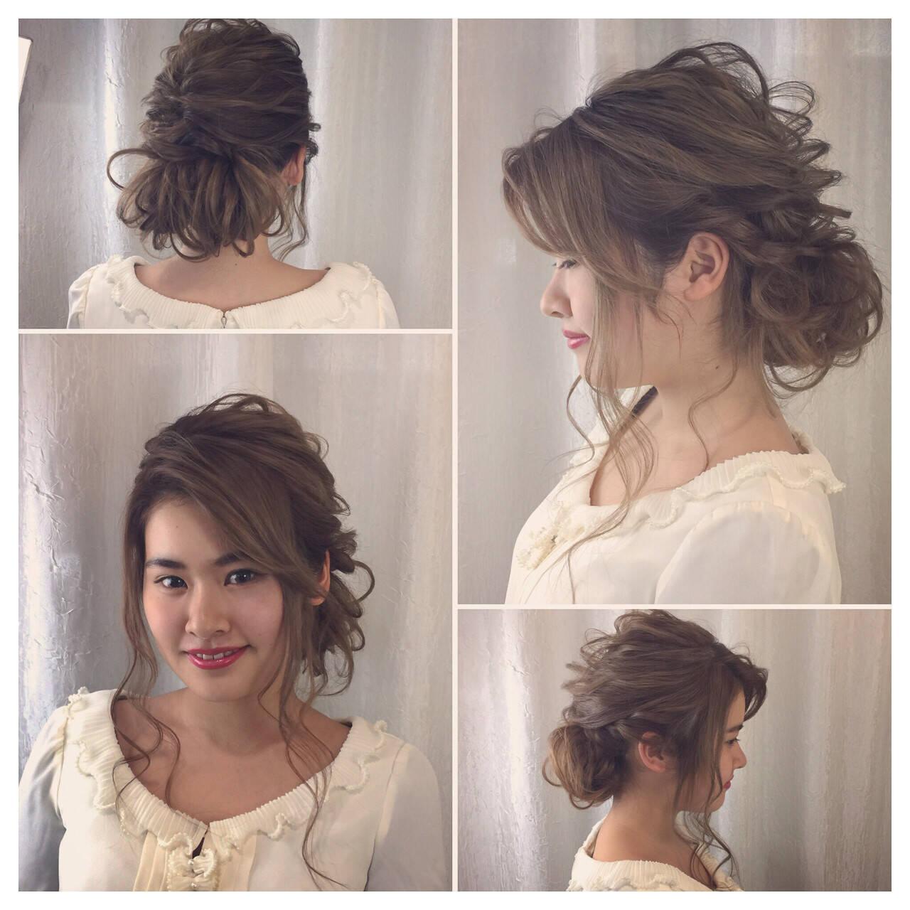 ロング エレガント パーティ ヘアアレンジヘアスタイルや髪型の写真・画像