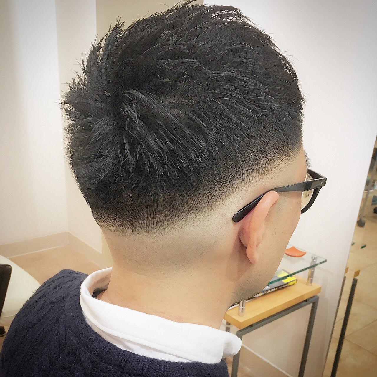 刈り上げ ストリート フェードカット ショートヘアスタイルや髪型の写真・画像