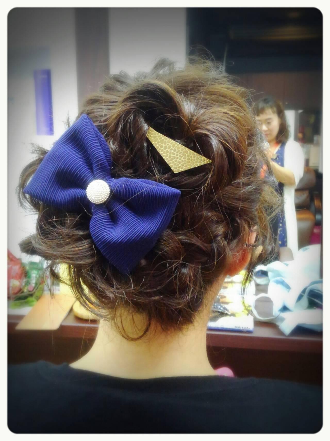 簡単ヘアアレンジ ショート フェミニン ヘアアレンジヘアスタイルや髪型の写真・画像