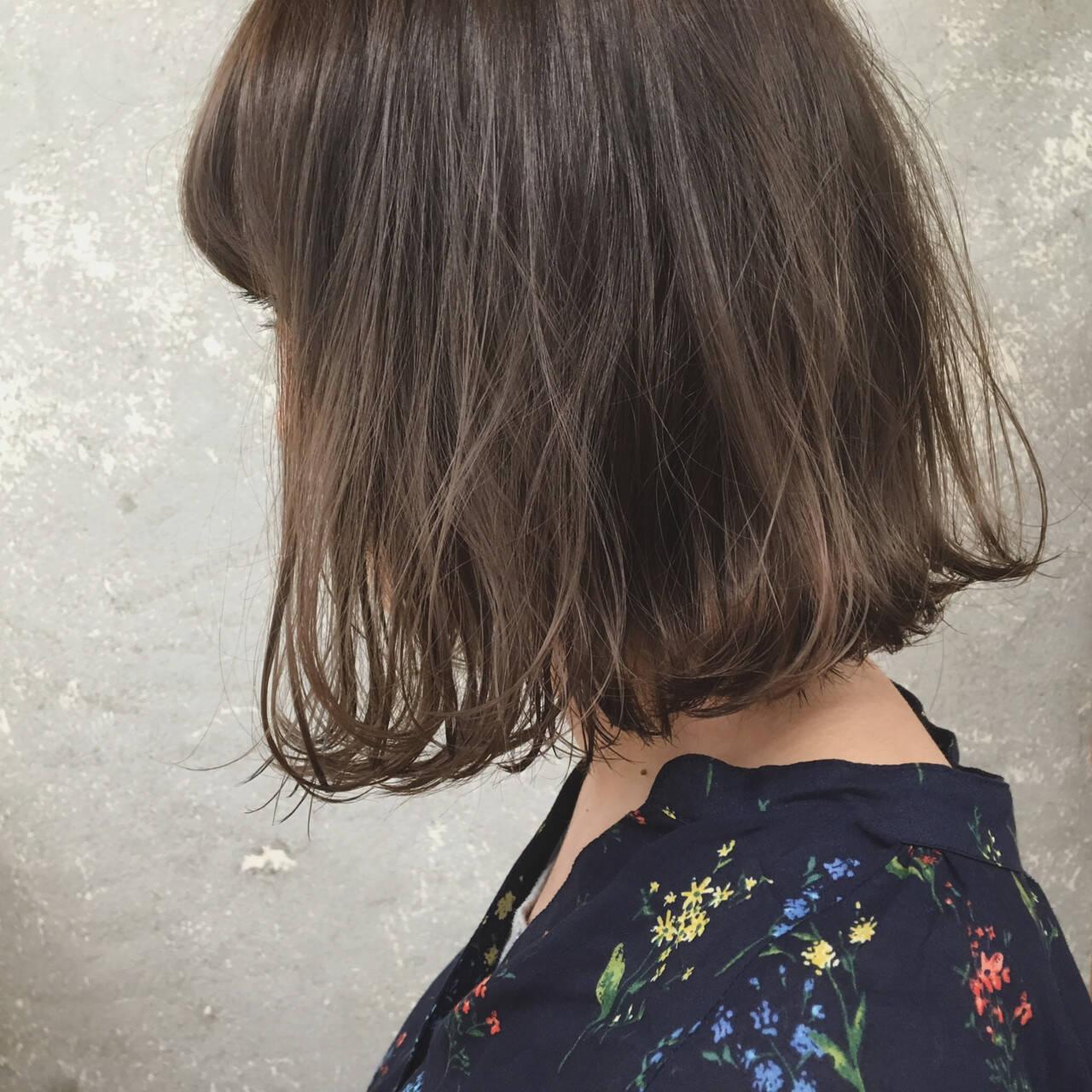 抜け感 グラデーションカラー ナチュラル 切りっぱなしヘアスタイルや髪型の写真・画像