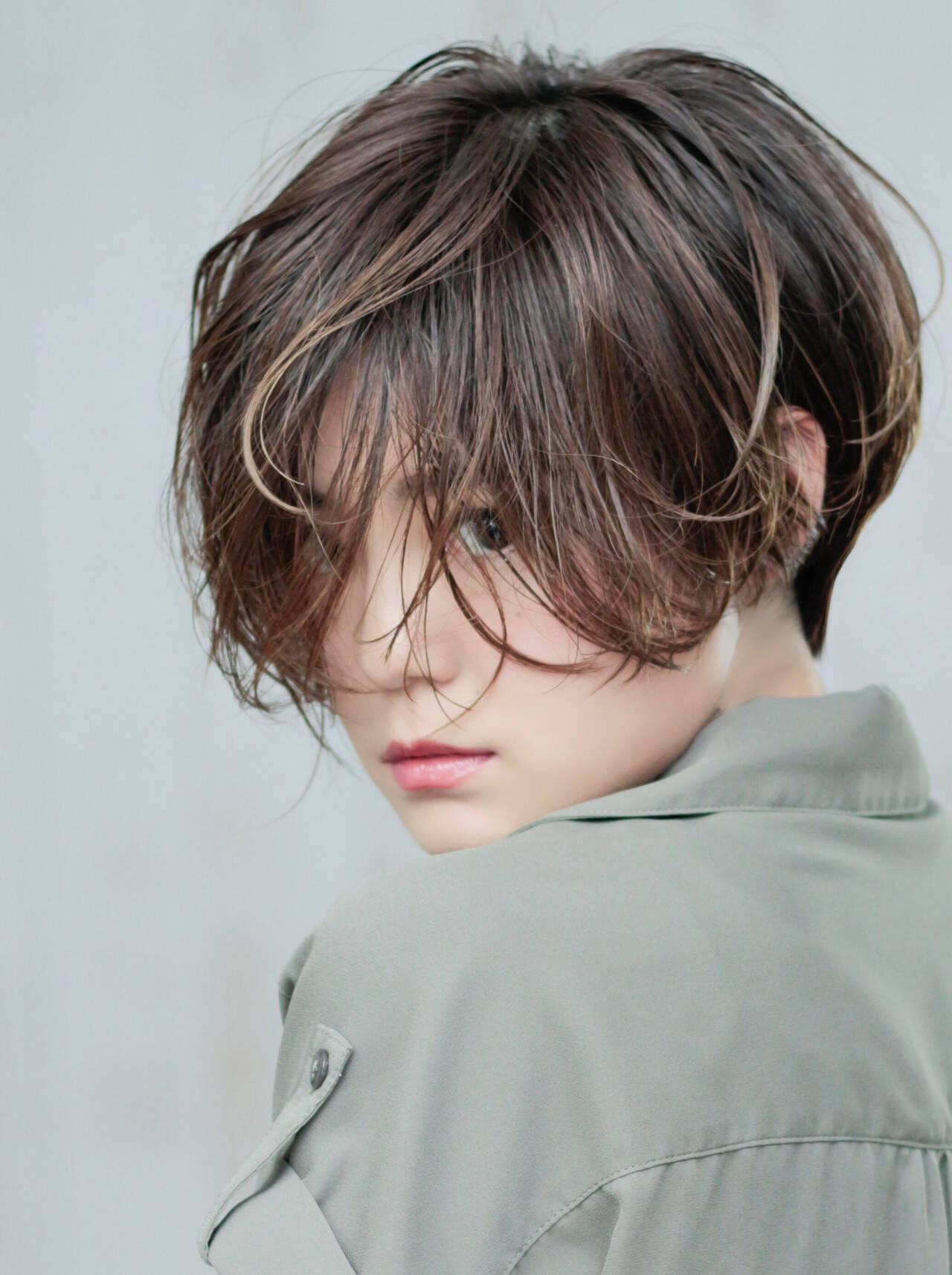 ハンサムショート ショート ショートボブ 小顔ショートヘアスタイルや髪型の写真・画像